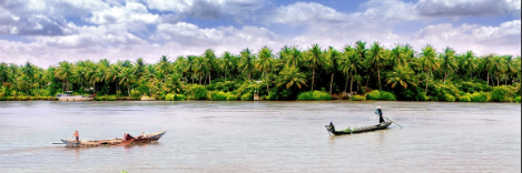 Coconut island in Ben Tre