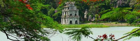 Hoan Kiem lake-Hanoi city