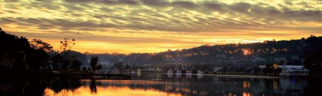 Sunrise on Than Tho lake, Dalat