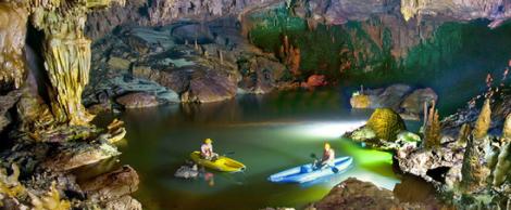 Dark cave in Quang Binh