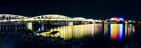 Truong Tien bridge in Hue city