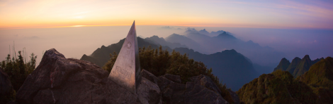 Fansipan summit at dawn