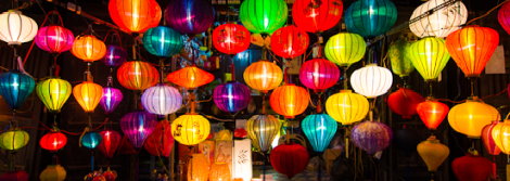 silk latern shop in Hoi an night market