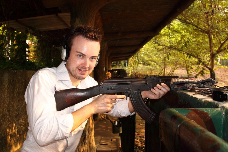 Fire off an AK47 at the shooting range